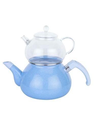 Mor Emaye Çaydanlık Takımı-Tantitoni